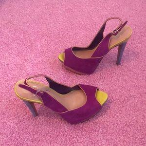 Jessica Simpson multi-color Heels Size 6B